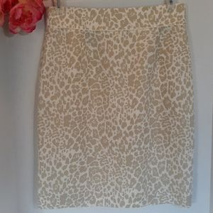 Antonio Melani Cheetah Print Pencil Skirt